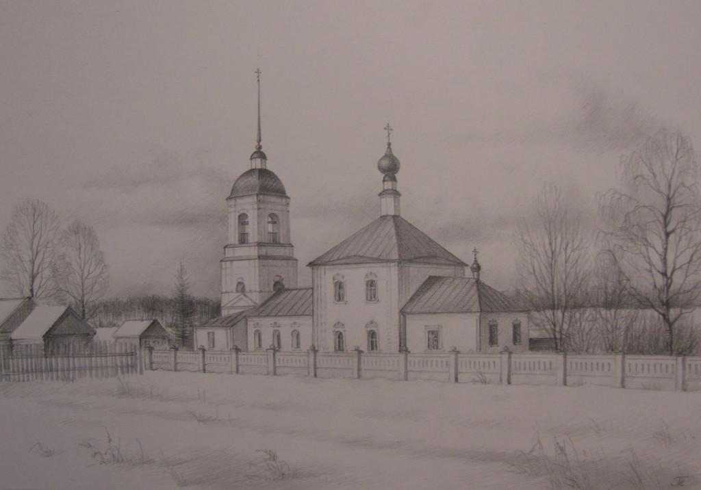 Никольская церковь. с.Троицко-Никольское
